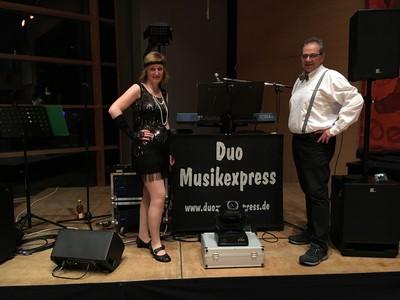 Duo Musikexpress live bei einer Fasnachtsveranstaltung 2019
